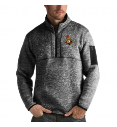 Men's Ottawa Senators Antigua Fortune Quarter-Zip Pullover Jacket Charcoal