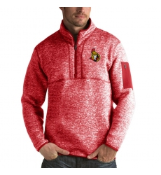 Men's Ottawa Senators Antigua Fortune Quarter-Zip Pullover Jacket Red