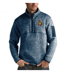 Men's Ottawa Senators Antigua Fortune Quarter-Zip Pullover Jacket Royal