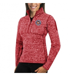 Pittsburgh Penguins Antigua Women's Fortune Zip Pullover Sweater Red