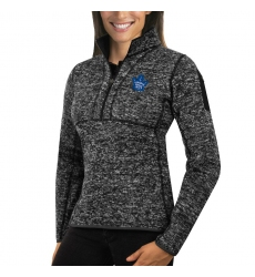 Toronto Maple Leafs Antigua Women's Fortune Zip Pullover Sweater Charcoal