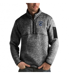 Men's Vancouver Canucks Antigua Fortune Quarter-Zip Pullover Jacket Charcoal