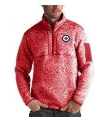 Men's Winnipeg Jets Antigua Fortune Quarter-Zip Pullover Jacket Red