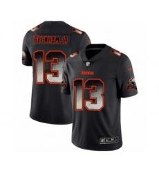 Men Cleveland Browns #13 Odell Beckham Jr. Black Smoke Fashion Limited Jersey