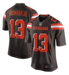 Men's Cleveland Browns #13 Odell Beckham Jr Nike Brown Game Jersey