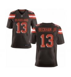 Men's Odell Beckham Jr. Elite Brown Nike Jersey NFL Cleveland Browns #13 Home