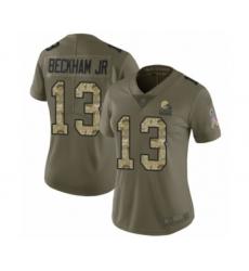 Men's Odell Beckham Jr. Limited Brown Nike Jersey NFL Cleveland Browns #13 Home Vapor Untouchable