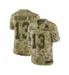 Men's Odell Beckham Jr. Limited Camo Nike Jersey NFL Cleveland Browns #13 2018 Salute to Service