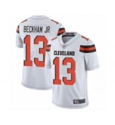 Men's Odell Beckham Jr. Limited White Nike Jersey NFL Cleveland Browns #13 Road Vapor Untouchable