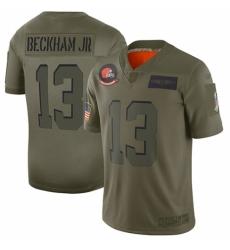 Women's Cleveland Browns #13 Odell Beckham Jr. Limited Camo 2019 Salute to Service Football Jersey