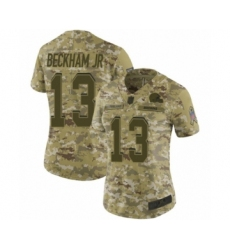 Women's Odell Beckham Jr. Limited Camo Nike Jersey NFL Cleveland Browns #13 2018 Salute to Service