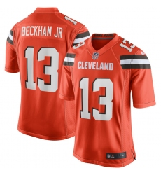Youth Cleveland Browns #13 Odell Beckham Jr Nike Orange Game Jersey