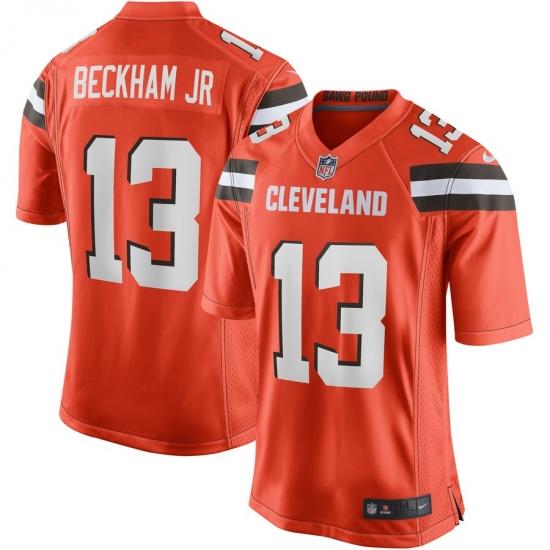 Youth Cleveland Browns #13 Odell Beckham Jr Nike Orange Game Jersey