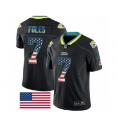 Men's Jacksonville Jaguars #7 Nick Foles Limited Black Rush USA Flag Football Jersey