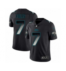 Men's Jacksonville Jaguars #7 Nick Foles Limited Black Smoke Fashion Football Jersey