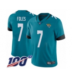Youth Nike Jacksonville Jaguars #7 Nick Foles Teal Green Alternate Vapor Untouchable Limited Player 100th Season NFL Jersey