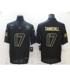 Men's Tennessee Titans #17 Ryan Tannehill Black Nike 2020 Salute To Service Limited Jersey