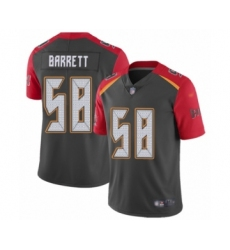 Men's Tampa Bay Buccaneers #58 Shaquil Barrett Limited Gray Inverted Legend Football Jersey