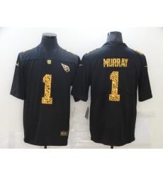 Men's Arizona Cardinals #1 Kyler Murray Black Nike Leopard Print Limited Jersey