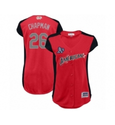 Women's Oakland Athletics #26 Matt Chapman Authentic Red American League 2019 Baseball All-Star Jersey