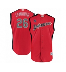 Men's New York Yankees #26 DJ LeMahieu Authentic Red American League 2019 Baseball All-Star Jersey