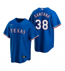 Men's Nike Texas Rangers #38 Danny Santana Royal Alternate Stitched Baseball Jersey