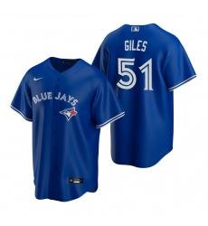 Men's Nike Toronto Blue Jays #51 Ken Giles Royal Alternate Stitched Baseball Jersey