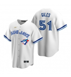 Men's Nike Toronto Blue Jays #51 Ken Giles White Cooperstown Collection Home Stitched Baseball Jersey