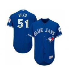 Men's Toronto Blue Jays #51 Ken Giles Royal Blue Alternate Flex Base Authentic Collection Baseball Jersey