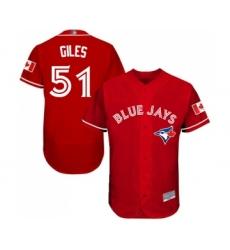 Men's Toronto Blue Jays #51 Ken Giles Scarlet Alternate Flex Base Authentic Collection Alternate Baseball Jersey