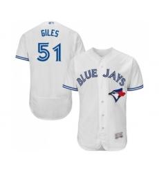 Men's Toronto Blue Jays #51 Ken Giles White Home Flex Base Authentic Collection Baseball Jersey