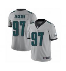 Women's Philadelphia Eagles #97 Malik Jackson Limited Silver Inverted Legend Football Jersey
