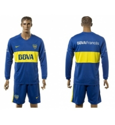 Boca Juniors Blank Home Long Sleeves Soccer Club Jersey