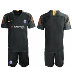 Chelsea Blank Black Goalkeeper Soccer Club Jersey