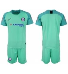 Chelsea Blank Green Goalkeeper Soccer Club Jersey