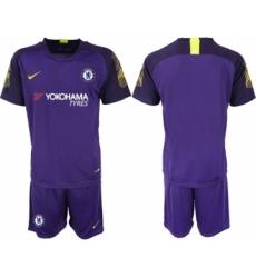 Chelsea Blank Purple Goalkeeper Soccer Club Jersey