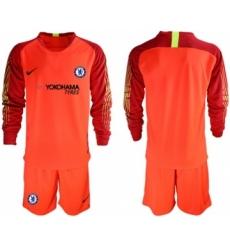 Chelsea Blank Red Goalkeeper Long Sleeves Soccer Club Jersey