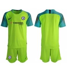 Chelsea Blank Shiny Green Goalkeeper Soccer Club Jersey