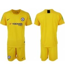 Chelsea Blank Yellow Goalkeeper Soccer Club Jersey