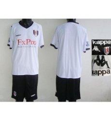 Fulham Blank White Home Soccer Club Jersey