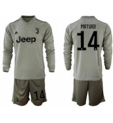 Juventus #14 Matuidi Away Long Sleeves Soccer Club Jersey