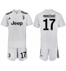 Juventus #17 Mandzukic White Soccer Club Jersey