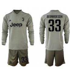 Juventus #33 Bernardeschi Away Long Sleeves Soccer Club Jersey