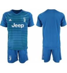 Juventus Blank Blue Goalkeeper Soccer Club Jersey