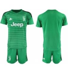 Juventus Blank Green Goalkeeper Soccer Club Jersey