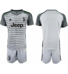 Juventus Blank Grey Goalkeeper Soccer Club Jersey
