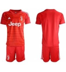Juventus Blank Red Goalkeeper Soccer Club Jersey