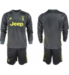 Juventus Blank Third Long Sleeves Soccer Club Jersey
