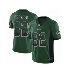 Men's New York Jets #82 Jamison Crowder Limited Green Rush Drift Fashion Football Jersey