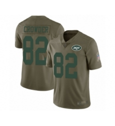 Men's New York Jets #82 Jamison Crowder Limited Olive 2017 Salute to Service Football Jersey